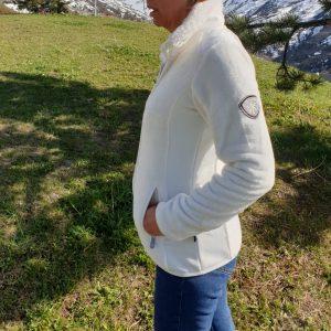 Polaire Alpes blanc