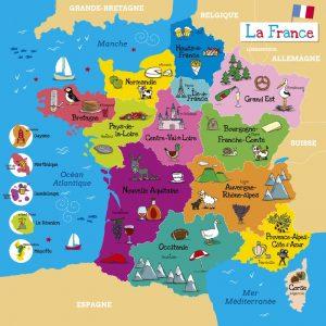 carte de France en bois