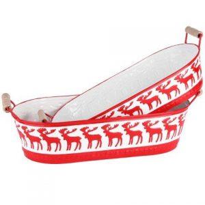 panier rouge motif renne