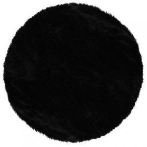 tapis fourrure noir