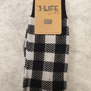 chaussettes à carreaux